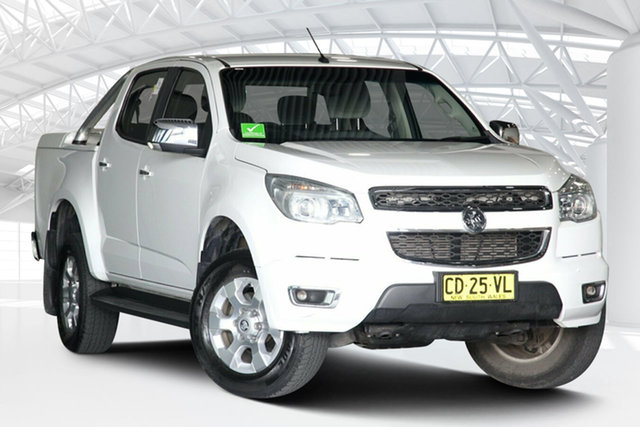 Used Holden Colorado RG MY15 LTZ (4x2) Moorebank, 2015 Holden Colorado RG MY15 LTZ (4x2) White 6 Speed Automatic Crew Cab Pickup