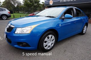 2011 Holden Cruze JH Series II MY11 CD Perfect Blue 5 Speed Manual Sedan.