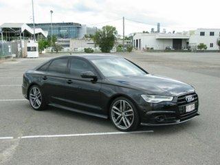 2018 Audi A6 4GL MY18 1.8 TFSI Black Edition Black 7 Speed Auto Dual Clutch Sedan.