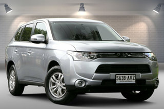 2013 Mitsubishi Outlander ZJ MY13 LS 4WD Silver 6 Speed Sports Automatic Wagon.