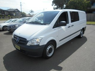 2013 Mercedes-Benz Vito MY11 113CDI LWB White 5 Speed Automatic Van.