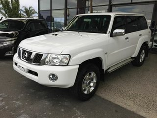 2016 Nissan Patrol GU Series 10 ST (4x4) White 4 Speed Automatic Wagon