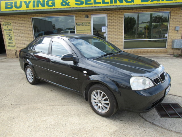 Used Daewoo Lacetti J200 Mandurah, 2004 Daewoo Lacetti J200 Black 4 Speed Automatic Sedan