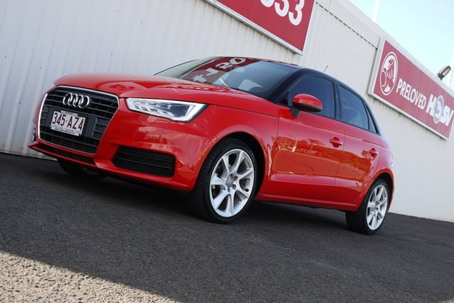 Used Audi A1 8X MY15 Sportback S Tronic Bundaberg, 2015 Audi A1 8X MY15 Sportback S Tronic Red 7 Speed Sports Automatic Dual Clutch Hatchback