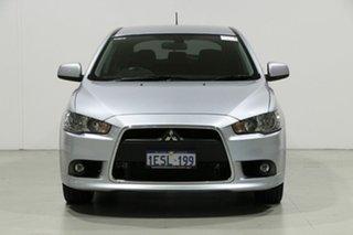 2014 Mitsubishi Lancer CJ MY14.5 GSR Sportback Silver 6 Speed CVT Auto Sequential Hatchback.