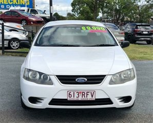 2007 Ford Falcon BF Mk II XL White 4 Speed Sports Automatic Utility.