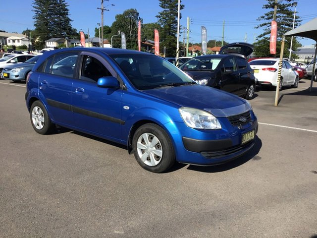 Pre-Owned Kia Rio JB MY07 LX Cardiff, 2007 Kia Rio JB MY07 LX Blue 4 Speed Automatic Hatchback