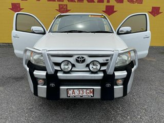 2005 Toyota Hilux GGN25R MY05 SR5 Xtra Cab White 5 Speed Manual Utility.