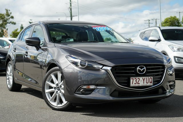 Used Mazda 3 BN5438 SP25 SKYACTIV-Drive GT Hillcrest, 2018 Mazda 3 BN5438 SP25 SKYACTIV-Drive GT Grey 6 Speed Sports Automatic Hatchback