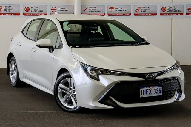 Pre-Owned Toyota Corolla Mzea12R Ascent Sport Myaree, 2019 Toyota Corolla Mzea12R Ascent Sport Crystal Pearl Continuous Variable Hatchback