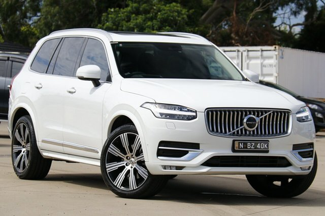 Used Volvo XC90 256 MY20 T6 Inscription (AWD) Chullora, 2019 Volvo XC90 256 MY20 T6 Inscription (AWD) Ice White 8 Speed Automatic Geartronic Wagon