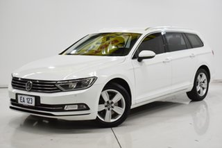 2016 Volkswagen Passat 3C (B8) MY16 132TSI DSG White 7 Speed Sports Automatic Dual Clutch Wagon.