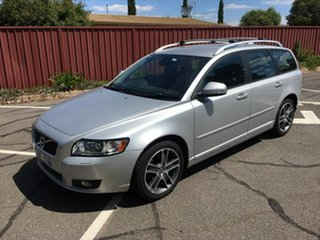 2012 Volvo V50 MY12 T5 Geartronic Lifestyle Silver 5 Speed Sports Automatic Wagon.