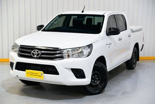 2016 Toyota Hilux GGN120R SR Double Cab 4x2 White 6 Speed Sports Automatic Utility