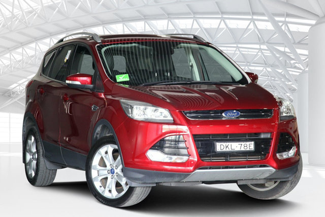 Used Ford Kuga TF MY16.5 Trend PwrShift AWD Moorebank, 2016 Ford Kuga TF MY16.5 Trend PwrShift AWD Red 6 Speed Sports Automatic Dual Clutch Wagon