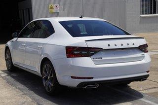 2020 Skoda Superb NP MY21 206TSI Sedan DSG SportLine Moon White 6 Speed Sports Automatic Dual Clutch.