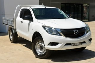 2016 Mazda BT-50 UR0YG1 XT Freestyle 4x2 Hi-Rider White 6 Speed Manual Cab Chassis.