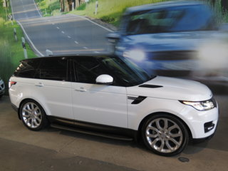 2016 Land Rover Range Rover LW MY16 Sport 3.0 TDV6 SE Abalone White 8 Speed Automatic Wagon.