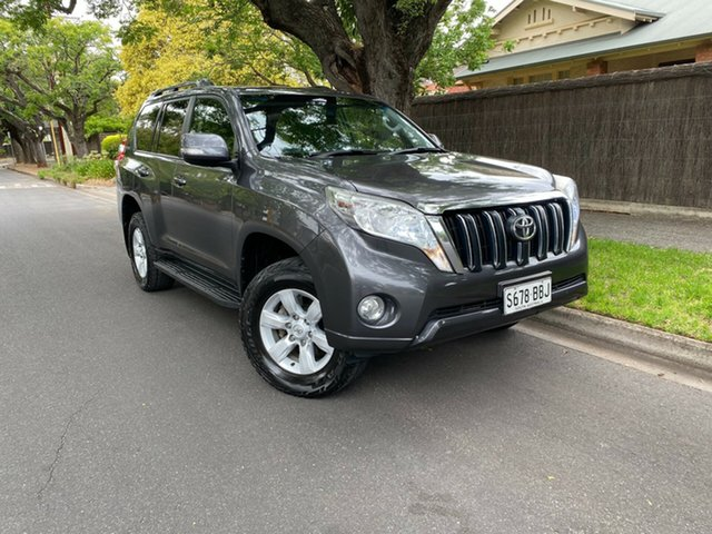 Pre-Owned Toyota Landcruiser Prado KDJ150R MY14 GXL Hawthorn, 2014 Toyota Landcruiser Prado KDJ150R MY14 GXL Grey 5 Speed Sports Automatic Wagon