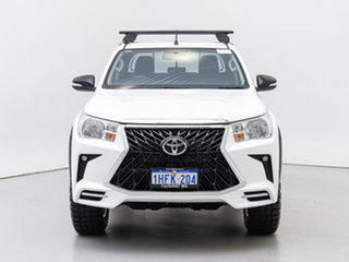 2017 Toyota Hilux GUN125R MY17 Workmate (4x4) White 6 Speed Automatic Dual Cab Chassis.