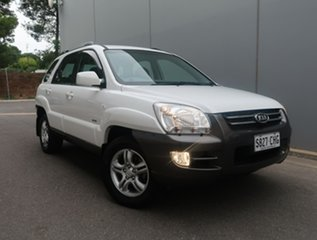 2007 Kia Sportage KM MY07 White 4 Speed Sports Automatic Wagon.
