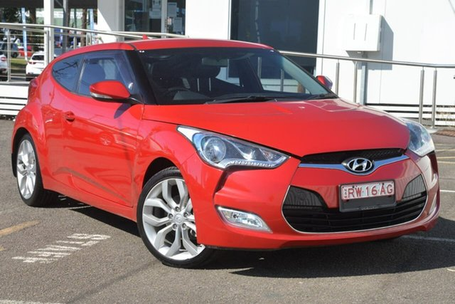 Used Hyundai Veloster FS2 Coupe North Gosford, 2012 Hyundai Veloster FS2 Coupe Red 6 Speed Manual Hatchback
