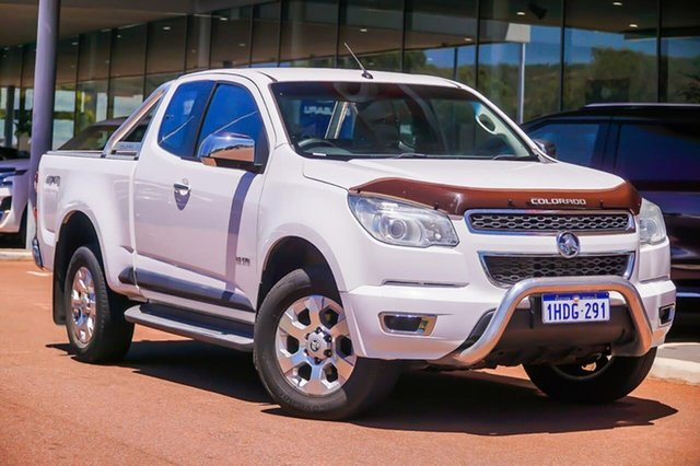 Used Holden Colorado RG MY14 LTZ Space Cab Gosnells, 2014 Holden Colorado RG MY14 LTZ Space Cab White 6 Speed Manual Utility