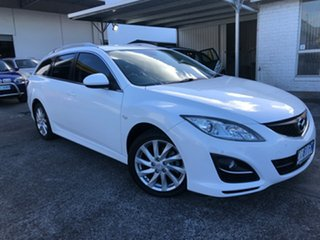 2011 Mazda 6 GH1052 MY12 Touring White 5 Speed Sports Automatic Wagon.