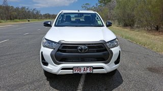 2020 Toyota Hilux GUN126R SR Double Cab Glacier White 6 Speed Manual Cab Chassis