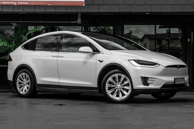 Used Tesla Model X 100D AWD Bowen Hills, 2017 Tesla Model X 100D AWD White 1 Speed Reduction Gear Wagon