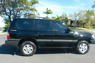 2004 Toyota Landcruiser HDJ100R Sahara Black 5 Speed Automatic Wagon.