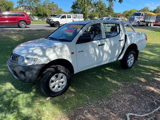 2008 Mitsubishi Triton ML MY08 GLX Double Cab 4x2 White 4 Speed Automatic Utility.