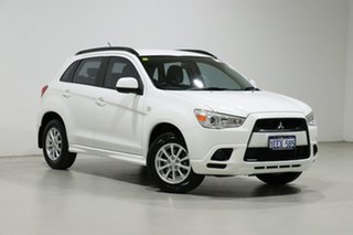 2012 Mitsubishi ASX XA MY12 (2WD) White Continuous Variable Wagon.