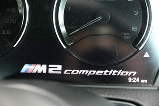 2018 BMW M2 F87 LCI Competition M-DCT Pure Black 7 Speed Sports Automatic Dual Clutch Coupe