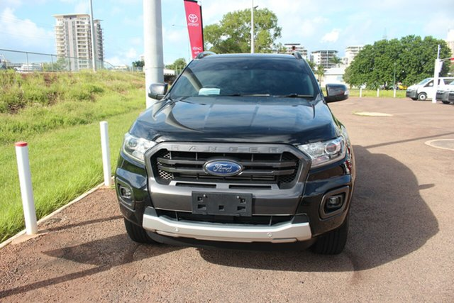 Pre-Owned Ford Ranger PX MkIII 2019.00MY Wildtrak Darwin, 2018 Ford Ranger PX MkIII 2019.00MY Wildtrak Black 10 Speed Sports Automatic Utility