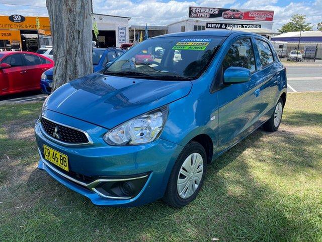 Used Mitsubishi Mirage LA MY19 ES Clontarf, 2018 Mitsubishi Mirage LA MY19 ES Blue 1 Speed Constant Variable Hatchback
