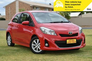 2013 Toyota Yaris NCP131R ZR Red 5 Speed Manual Hatchback.