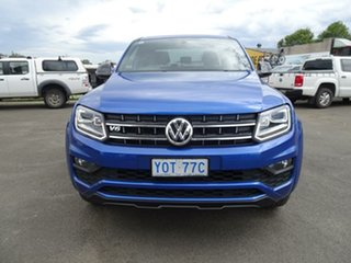 2019 Volkswagen Amarok 2H MY19 TDI580 4MOTION Perm Highline Black Ravenna Blue 8 Speed Automatic