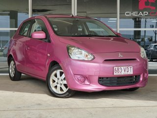 2013 Mitsubishi Mirage LA MY14 Sport Magenta 5 Speed Manual Hatchback.