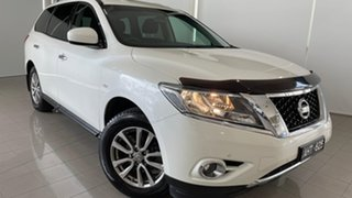 2016 Nissan Pathfinder R52 MY15 ST X-tronic 2WD White 1 Speed Constant Variable Wagon.