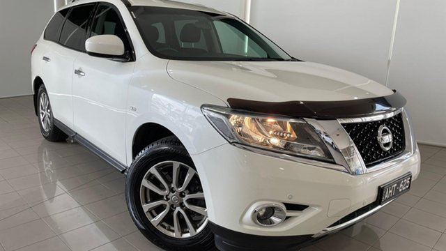 Used Nissan Pathfinder R52 MY15 ST X-tronic 2WD Deer Park, 2016 Nissan Pathfinder R52 MY15 ST X-tronic 2WD White 1 Speed Constant Variable Wagon