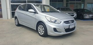 2015 Hyundai Accent RB2 MY15 Active Silver 4 Speed Sports Automatic Hatchback.