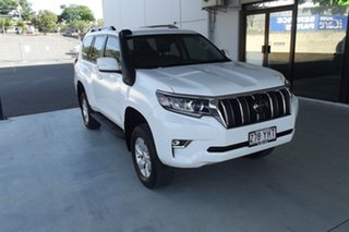 2018 Toyota Landcruiser Prado GDJ150R GXL White 6 Speed Sports Automatic Wagon.