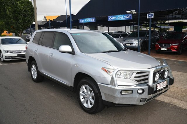 Used Toyota Kluger GSU40R MY11 Upgrade KX-R (FWD) 7 Seat Toowoomba, 2011 Toyota Kluger GSU40R MY11 Upgrade KX-R (FWD) 7 Seat Silver 5 Speed Automatic Wagon