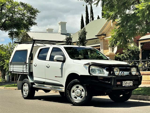 Used Holden Colorado RG MY13 LX Crew Cab Hyde Park, 2013 Holden Colorado RG MY13 LX Crew Cab White 6 Speed Sports Automatic Cab Chassis