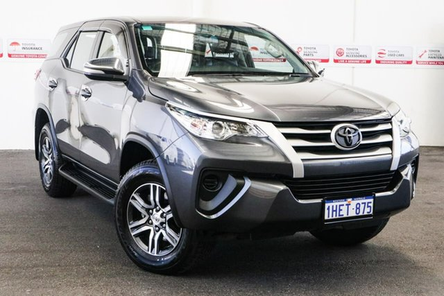 Pre-Owned Toyota Fortuner GUN156R GX Myaree, 2015 Toyota Fortuner GUN156R GX Graphite 6 Speed Automatic Wagon