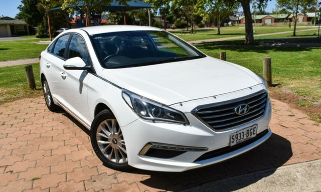 Used Hyundai Sonata LF Active Ingle Farm, 2015 Hyundai Sonata LF Active White 6 Speed Sports Automatic Sedan