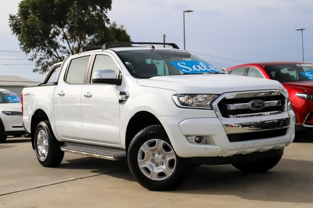 Used Ford Ranger PX MkII XLT Double Cab 4x2 Hi-Rider Kirrawee, 2017 Ford Ranger PX MkII XLT Double Cab 4x2 Hi-Rider White 6 Speed Sports Automatic Utility