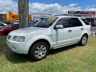 2005 Ford Territory SX Ghia AWD White 4 Speed Sports Automatic Wagon.