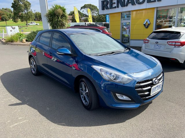 Used Hyundai i30 GD3 Series II MY16 Active X Warrnambool East, 2015 Hyundai i30 GD3 Series II MY16 Active X Blue 6 Speed Sports Automatic Hatchback